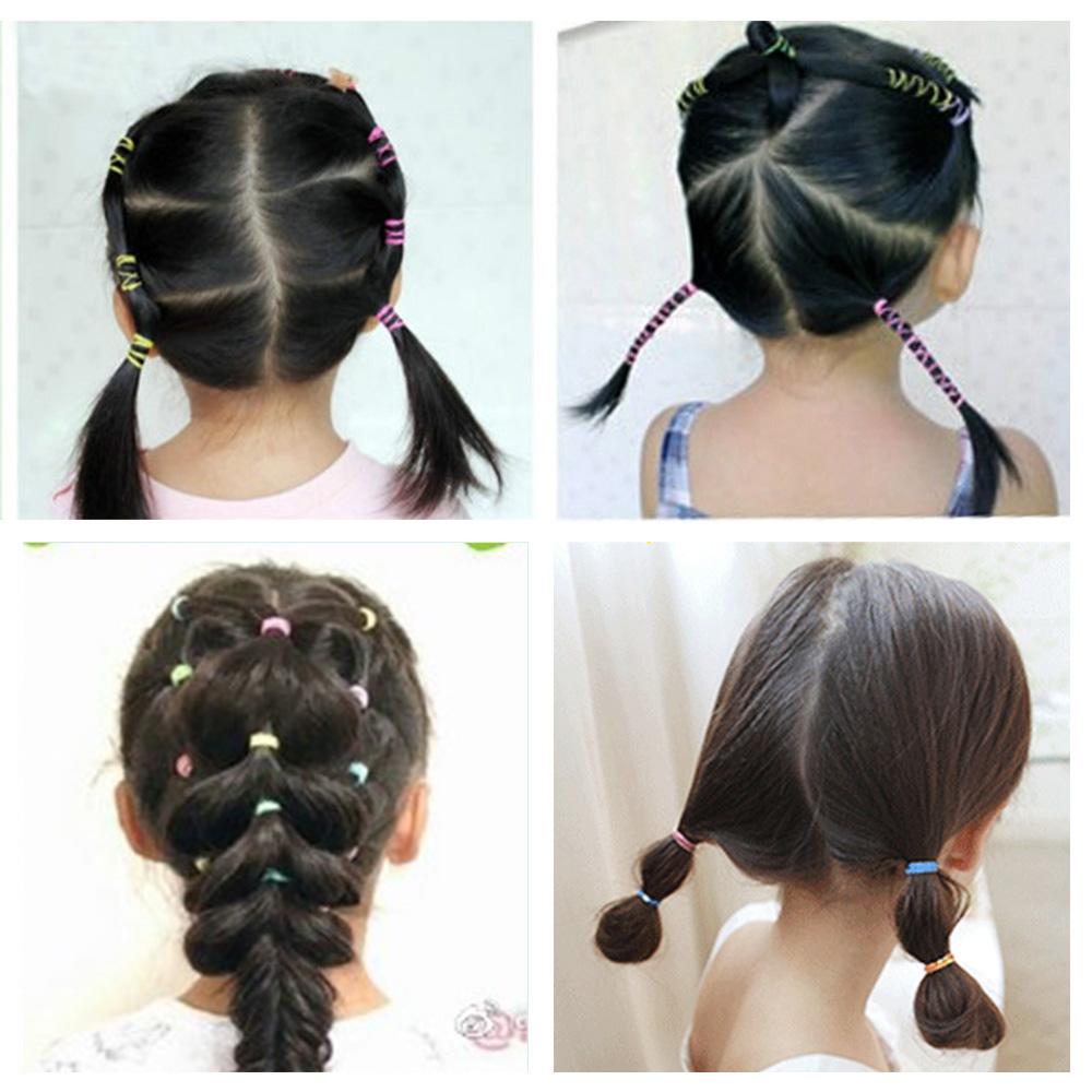 10 x Hair Elastics Bobbles Bands Hair Bands Ponytail Thin Head Rope Popular